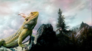 Dovahlizard: A digital matte painting study, Spring 2013.