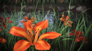 Tiger Lily Creek: A CG fluid simulation & plausible rendering study, Summer 2013.